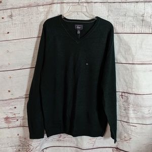 G.H. Bass V Neck Merino Wool Sweater Size L NWT